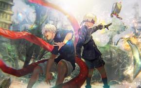 Picture the game, anime, art, guys, two, Gul, The Kaneko Ken