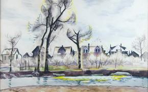 Picture 1933, Charles Ephraim Burchfield, Mid-April Landscape