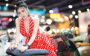 Picture face, background, sweetheart, dress, Asian