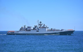 Picture ship, frigate, guard, the project 11356