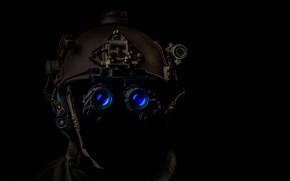 Picture army, glasses, helmet, equipment, helmet