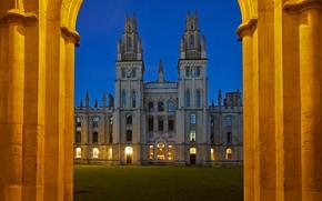 Picture lights, England, University, Oxford, College, Headington