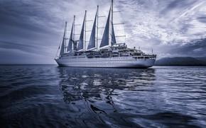 Wallpaper sails, ship, sea