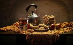 Wallpaper food, apples, cookies, still life