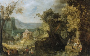 Picture landscape, oil, picture, Anton Mirou, Forest Resources