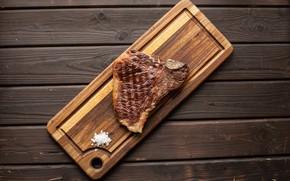 Picture Board, Steak, Meat, Salt