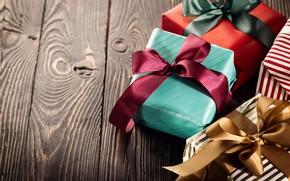 Wallpaper Christmas, gifts, holiday, tape, box