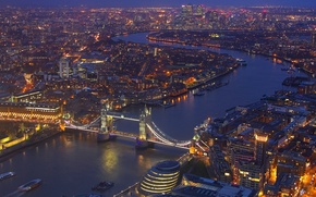 Wallpaper England, mast, panorama, river, London, lights