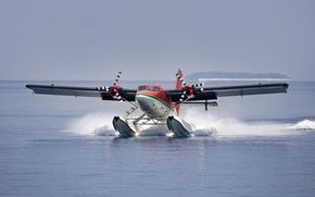 Picture water, hydroplane, Landing, water mirror