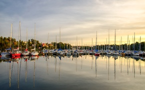 Picture The city, Yachts, Summer, Promenade, Summer, August, Town, August