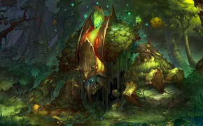 Picture the game, art, Dota2, seed_ill, Eldritch Gnarl