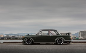 Picture Auto, Retro, BMW, Machine, Boomer, BMW, Car, 2002, Coupe, Old, Side view, BMW 2002 Turbo, …