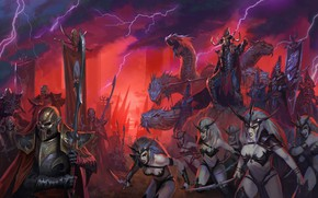 Wallpaper Total warhammer 2 was, Darck Elves, malekith