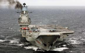 Wallpaper sea, cruiser, Heavy, aircraft carrier, Admiral Kuznetsov