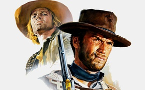 Wallpaper cinema, Clint Eastwood, 1965, revolver, weapon, hat, movie, film, gun, wester, For a few dollars ...