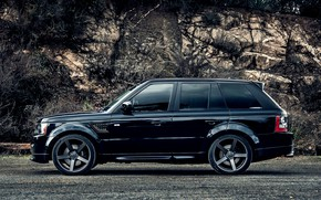 Picture lights, vossen, full HD, Range rover, whells, black'
