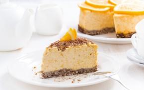 Picture orange, cake, mousse