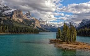 Picture landscape, mountains, nature, lake, beauty, Canada, Albert, Jasper National Park, Maligne Lake