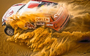 Picture Sand, Mini, Dust, Sport, Speed, Race, Red Bull, Rally, Rally, Dune, Raid, MINI Cooper, X-Raid