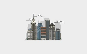 Picture city, the city, New York, Manhattan, skyscrapers, Manhattan, New York City, Chrysler Building, The Chrysler …