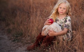 Picture nature, Apple, girl