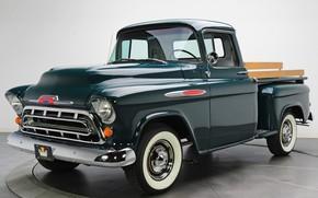 Picture retro, pickup, 1957, Chevrolet 3100, stepside