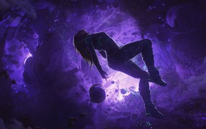 Picture figure, Art, Art, Girl in space, Space Suit, Antone Collignon, space deawing