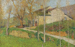 Picture landscape, picture, Henri-Jean Guillaume Martin, Henri Matrin, The House of Sabotier