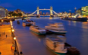 Picture river, ship, England, London, hdr, Thames, Tower bridge