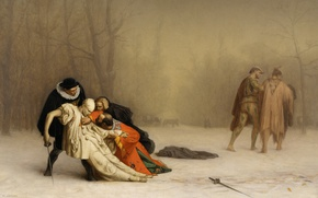 Wallpaper costume, Jean-Leon Gerome, The Duel After The Masquerade, sword, picture, genre