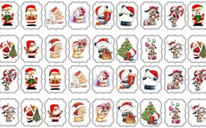 Picture mood, holiday, toys, pictures, art, New year, children's, cards, kids