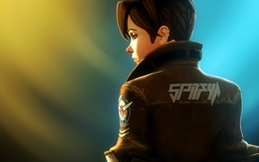 Picture girl, jacket, pilot, blizzard, activision, Overwatch, tracer, lena oxton