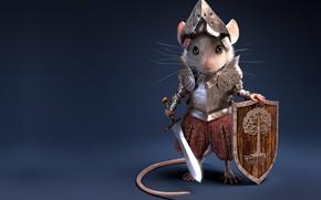 Picture sword, mouse, art, shield, knight, armor, children's, Knight Mouse, Antonio Ferrer