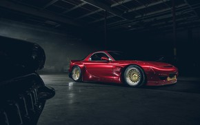Picture Mazda, Red, Front, RX-7, Rocket, Bunny