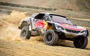Picture Sand, Auto, Sport, Machine, Speed, Race, Peugeot, Lights, Red Bull, Rally, Dakar, Dakar, SUV, Rally, …