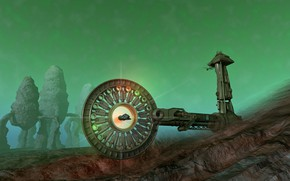 Picture rocks, construction, the portal, stargate open, The Gate is open