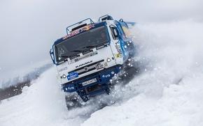 Picture Winter, Snow, Truck, Master, Skid, Russia, Kamaz, Rally, KAMAZ, Power, RedBull, Master, The Arctic