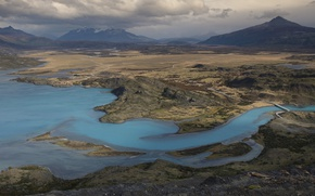 Picture mountains, lake, Chile, Chile, Patagonia, Patagonia, Torres del Paine