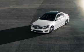 Picture Mercedes, White, Shadow, W222, S500