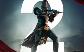 Picture gun, game, armor, weapon, man, rifle, Destiny, Destiny 2