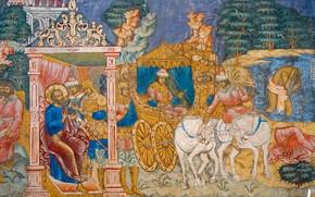 Picture mural, icon, Yaroslavl, Church of Elijah the Prophet