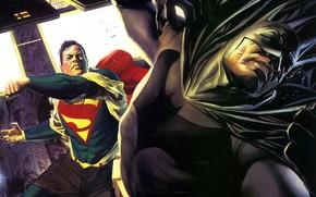Picture Batman, comics, Superman, superhero