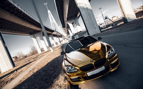 Picture car, machine, auto, bridge, city, fog, race, bmw, BMW, car, sports car, gold, car, need ...
