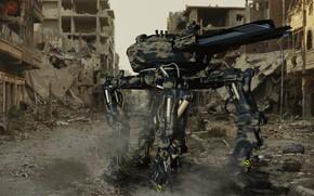 Picture the city, robot, destruction, Fast Killer