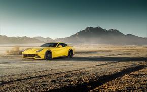 Picture design, desert, yellow, cool, The Ferrari F12