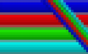 Picture strip, colored, pixel