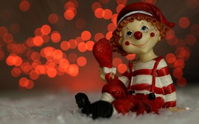 Picture macro, glare, holiday, toy, dwarf, figure