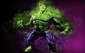 Picture green, fantasy, Hulk, mood, Marvel, muscles, comics, digital art, artwork, superhero, strength, fantasy art, rage, …