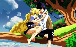 Picture kawaii, anime, pretty, blonde, manga, japanese, powerful, strong, sugoi, bishojo, mahou, by animefanno1, Zeref, Mavis …