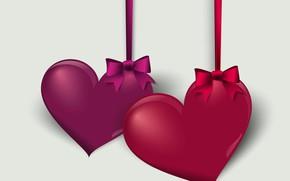 Wallpaper heart, graphics, vector, Valentine's Day